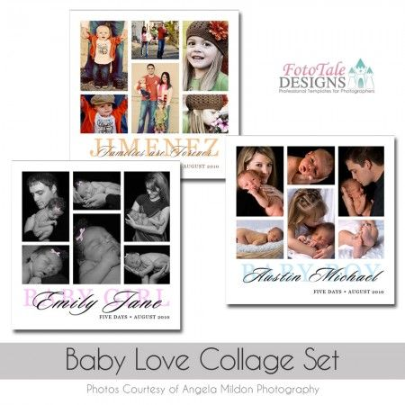 Baby Love Collagestoryboard Template Set Printweb Design