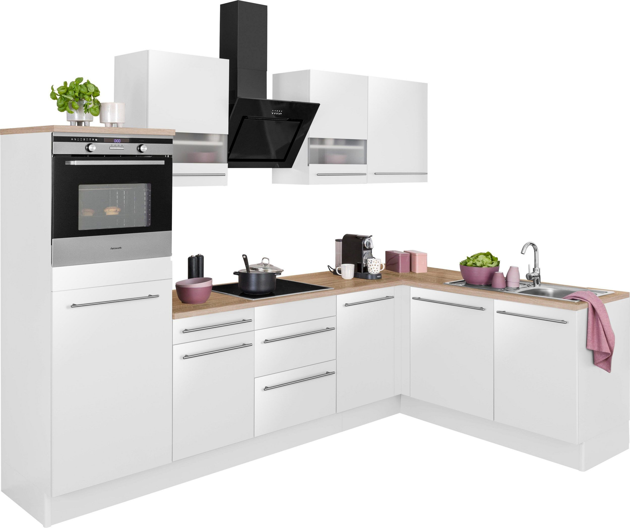 Optifit Winkelkuche Kitchen Cabinet L Shape Held Schrank Kuche