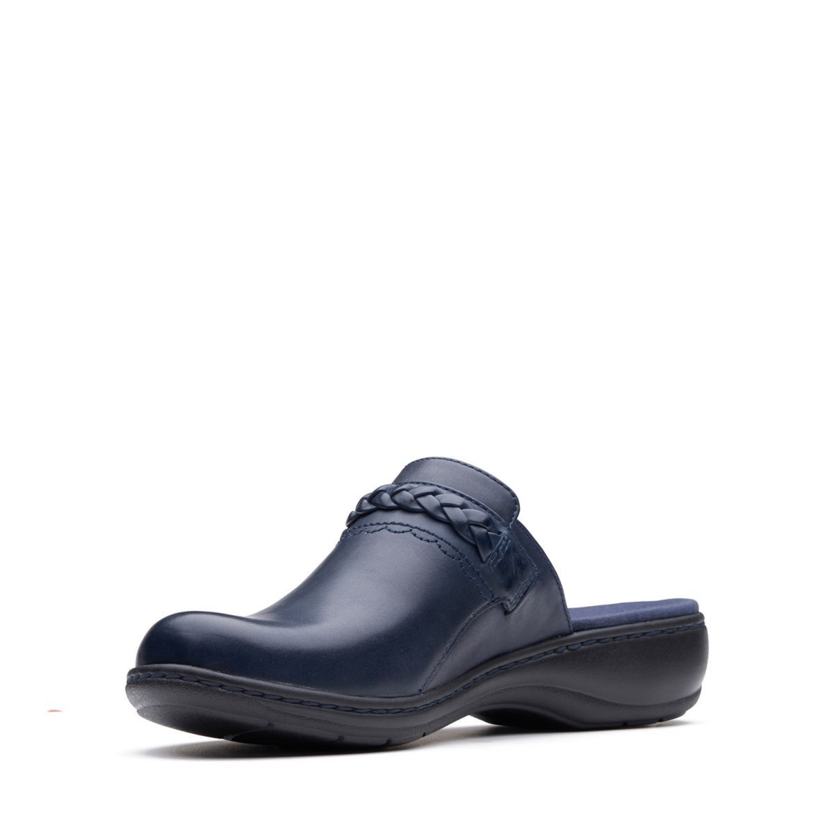 445a1331700a Clarks Leisa Carly - Womens Shoes Navy Leather 8.5 E (Wide) Out Of Stock