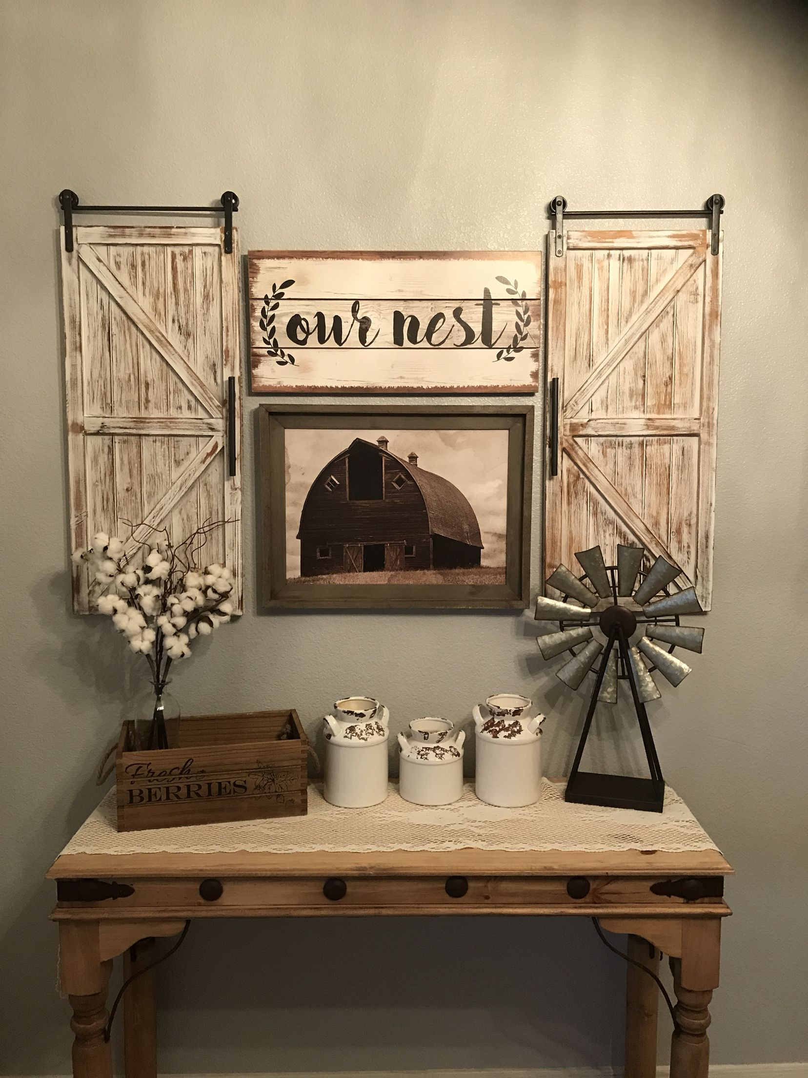 Farmhouse Kitchen Decor Farmhouse Farmhousedecor Chipandjo Barndoors Barn Wi Living Room Decor Rustic Rustic Farmhouse Living Room Farm House Living Room