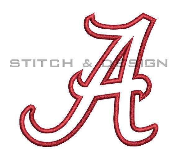 Alabama Applique Embroidery Design University Of Alabama Crimson