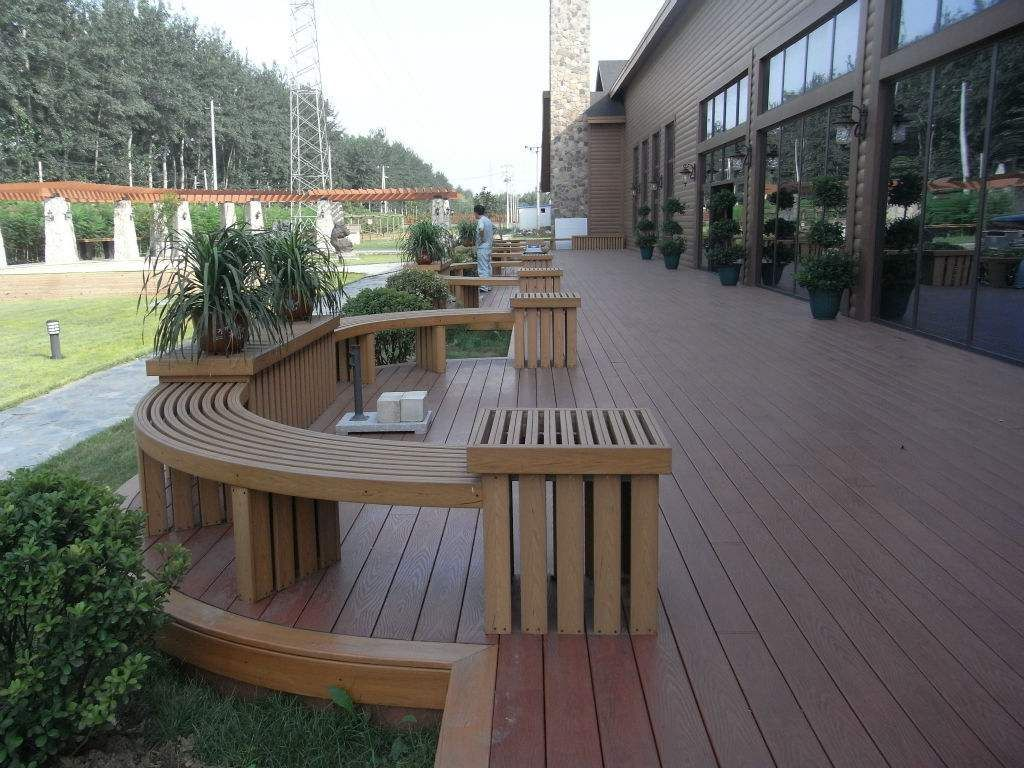 Thermally Modified Poplar Decking Swimming Pool Wood Deck Supplier In Manila Mix Wood And Plastic Flooring Yacht Flooring Outdoor Wood Deck