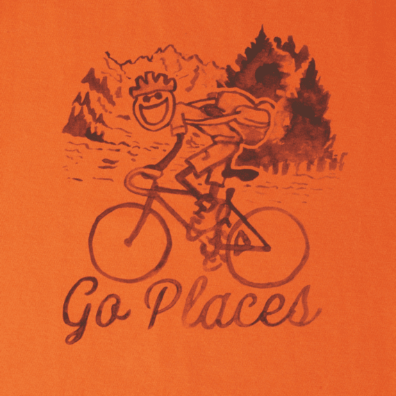 Men s Watercolor Go Places Bike Crusher Tee  62a1c2d2f