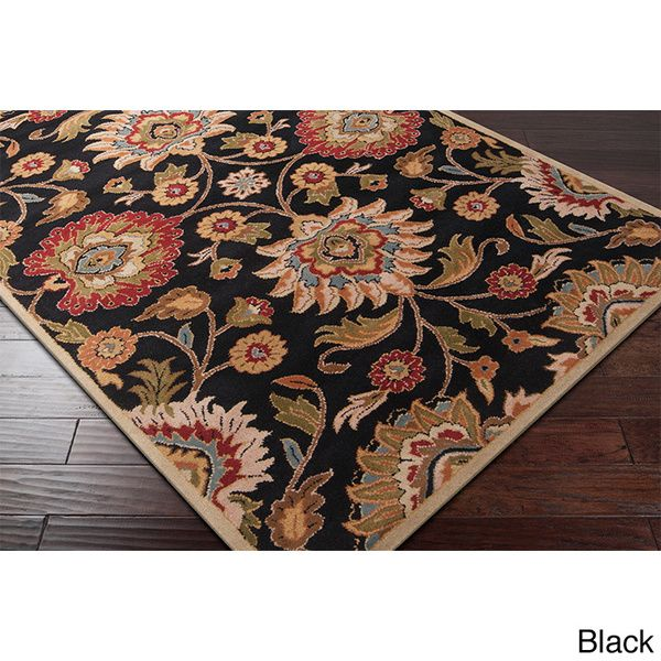 Hand-tufted Alameda Traditional Floral Wool Area Rug (8' x 10')