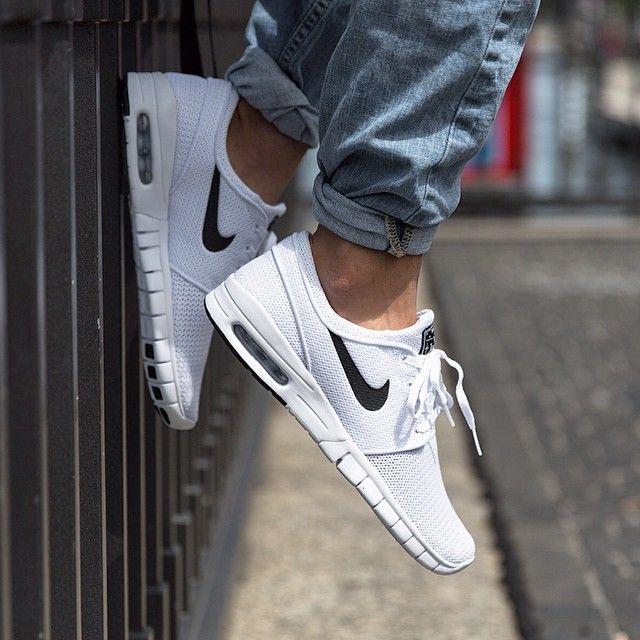 Nike Sb Stefan Janoski Max White Black Nike Nike Shoe Store Sneaker Boutique