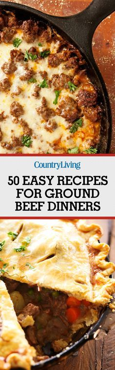 Don't forget to pin these easy ground beef recipes! Make sure to follow Country Living on Pinterest for more great dinner ideas.