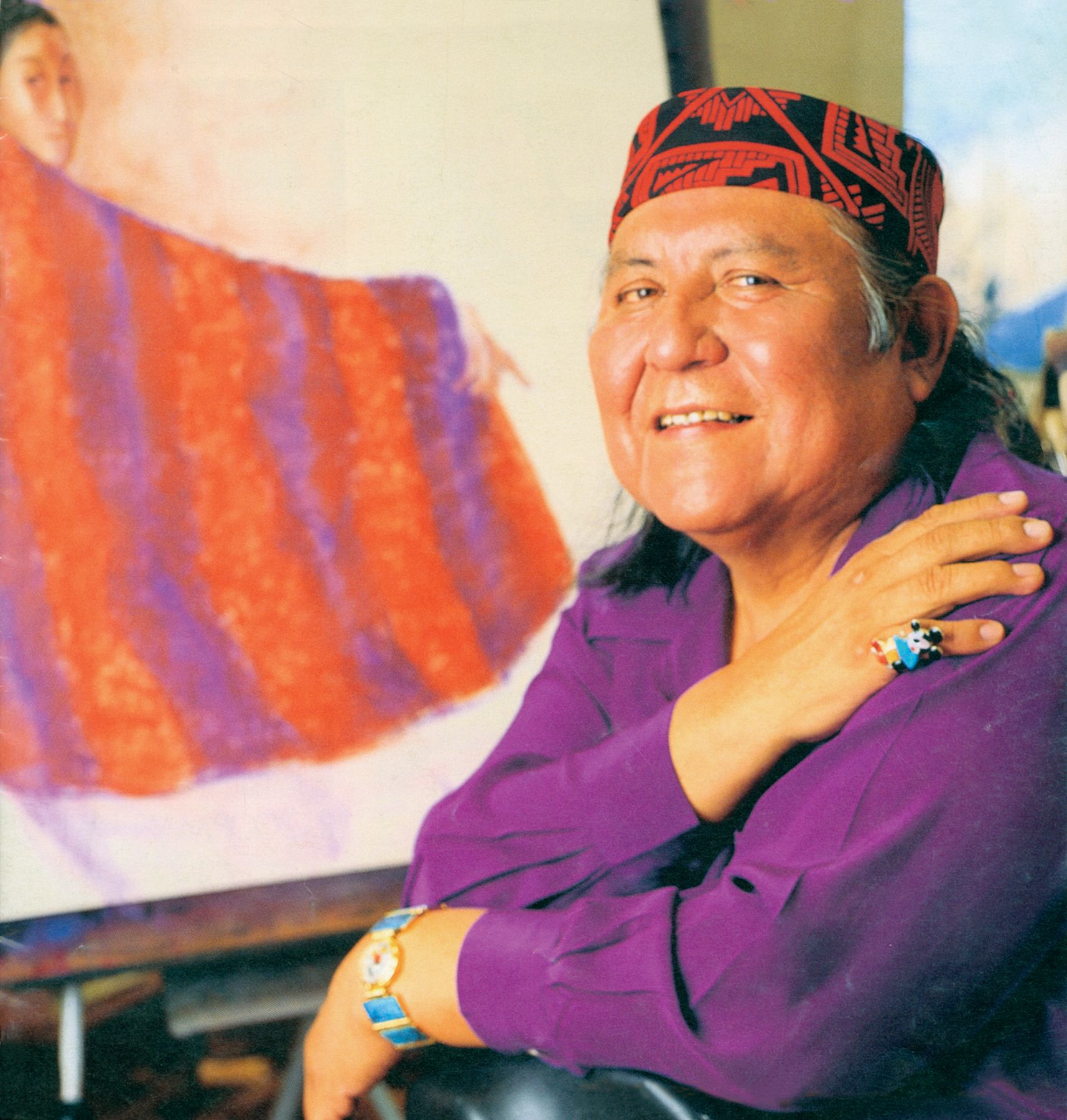 Rc gorman in taos 1987 native american 1931 2005 painter rc gorman in taos 1987 native american 1931 2005 painter dailygadgetfo Image collections