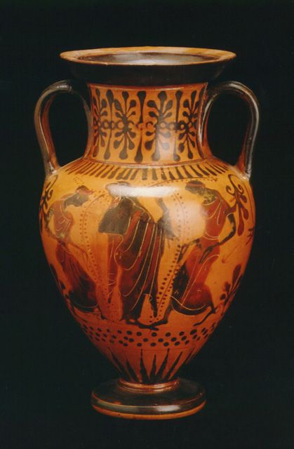 Attic Black-Figure Amphora Origin Mediterranean Circa 520 BC to 500 BC & Attic Black-Figure Amphora Origin: Mediterranean Circa: 520 BC to ...