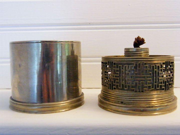 A travelling opium lamp with the top screwing to the bottom from Peking region circa 1860