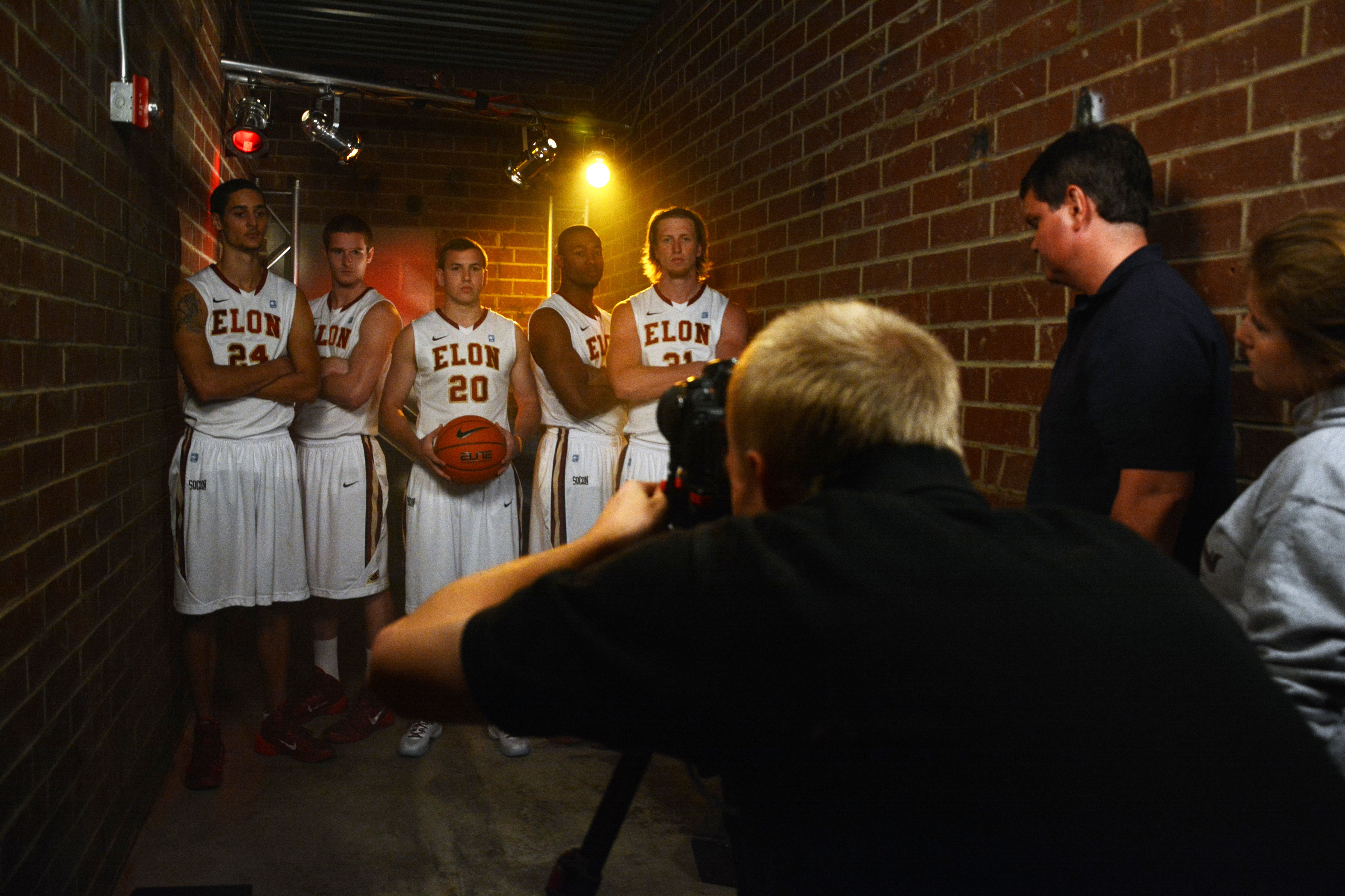 Here S A Behind The Scenes Look At This Week S Shoot For The Elon Men S Basketball Team 2013 2014 Intro Video Mak University Athlete Basketball Teams Athlete