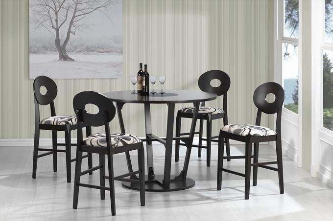 Perfect Coaster Company Round Dining Table With Circle Back Dining Chairs