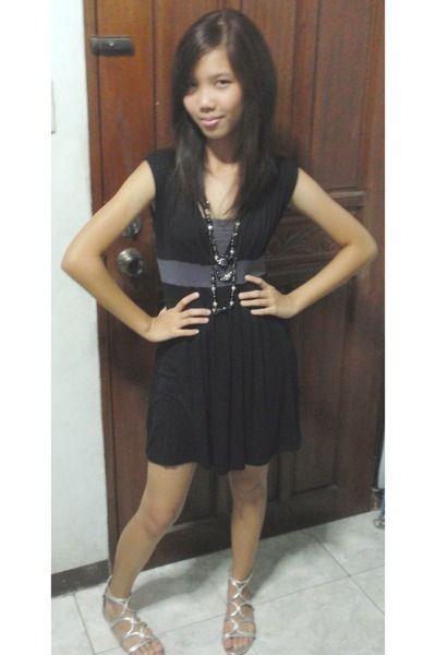 Black Mint Dress Silver Gladiator Celine Sandals Crossdresser