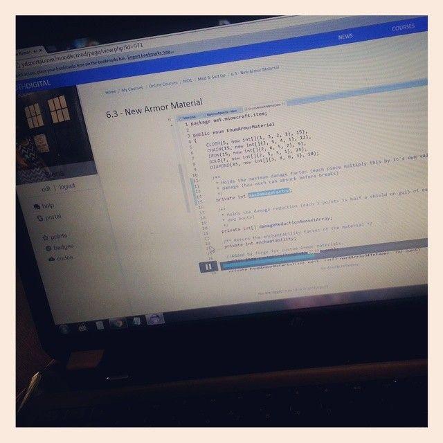 @jessamybright's Miss smartie pants is #coding / #programming in #Java again today! #Minecraft #ModDesign1 #YouthDigital #homeschoolforthewin