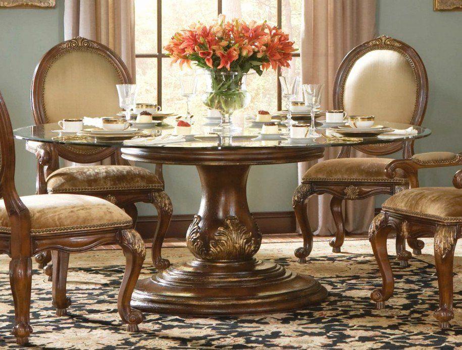 Wood Dining Room Table Sets Awesome 44 Round Wood Dining Room Table Sets Glass Dining Room Di 2020 Meja Makan Set Meja Makan Kursi Makan