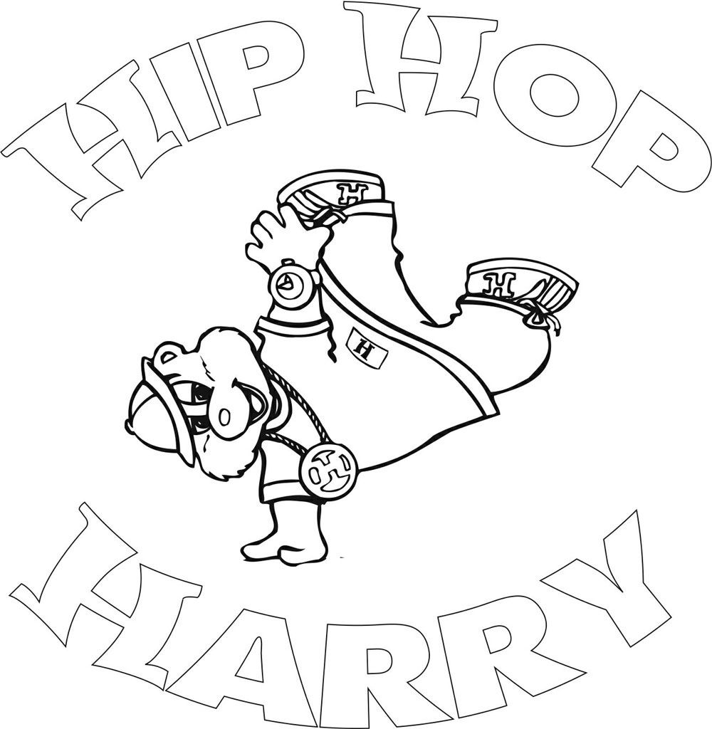 Hip Hop Harry Love This When I Was Little Coloring Books