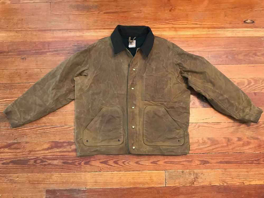 12960aa324875 Filson Tin Cloth, Lined, Upland Hunting Jacket - Size L Style 621 | eBay