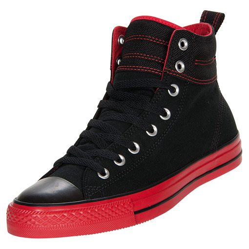 black and red converse high tops