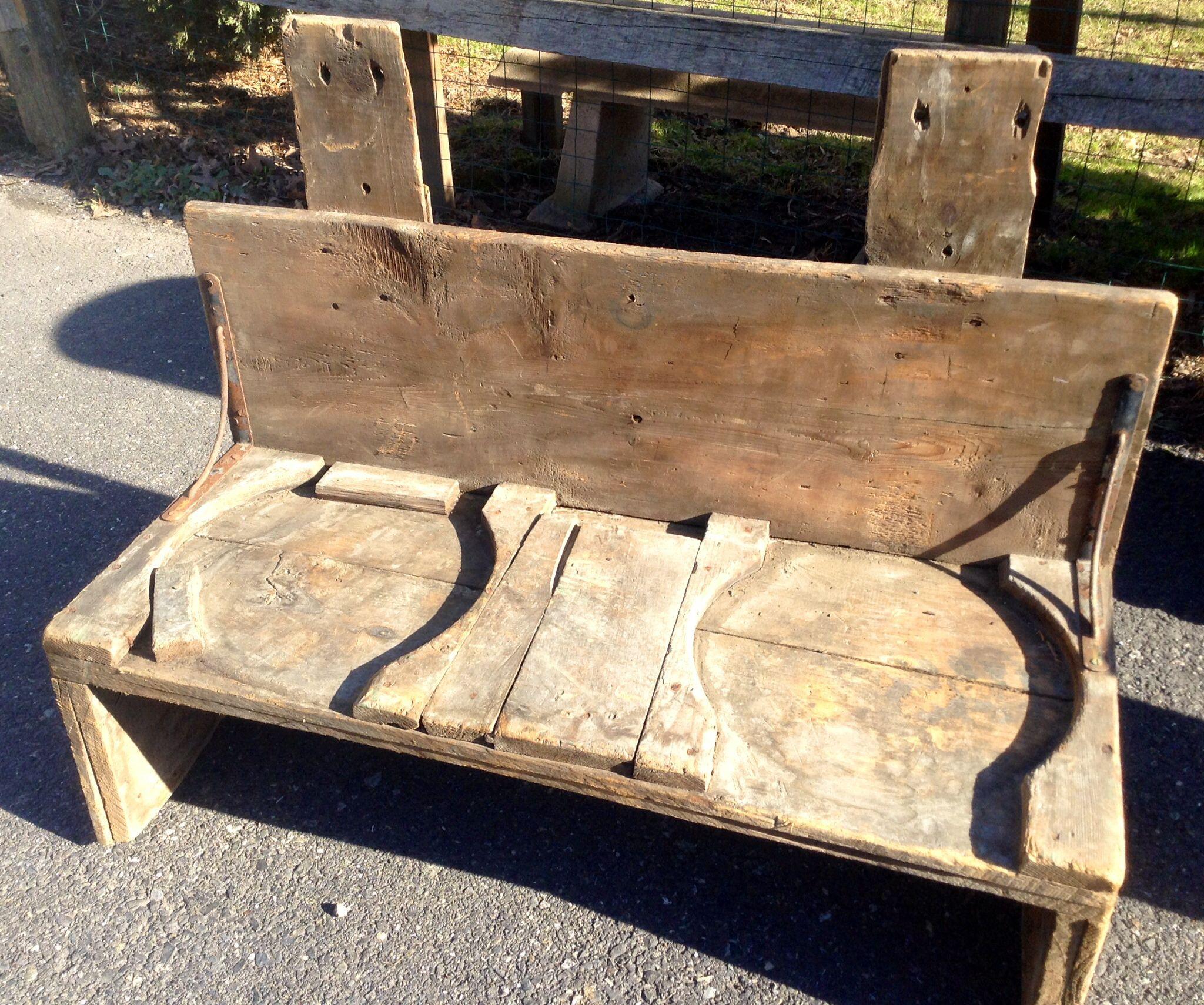 Primitive Wooden Bench Yard Sale Finds Pinterest