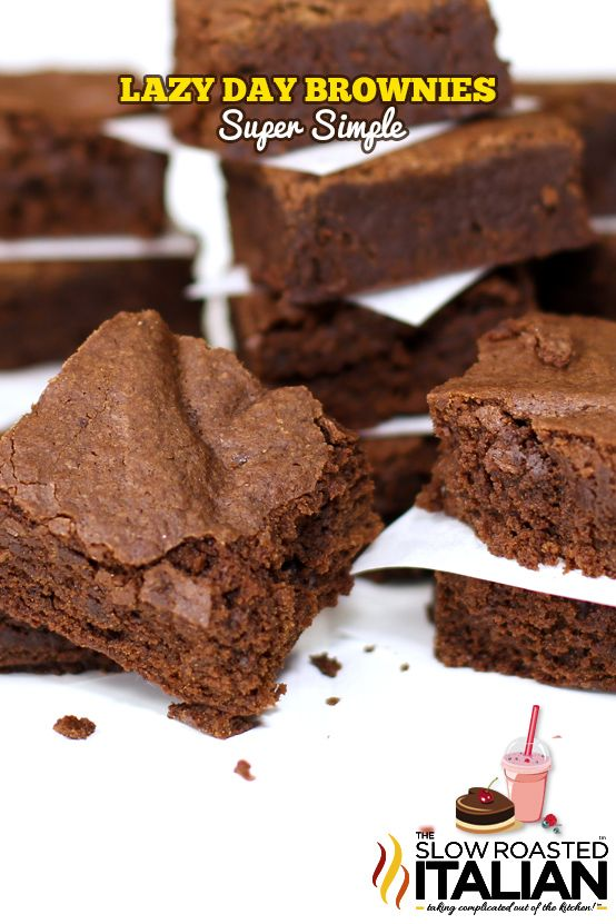 25 Minute Lazy Day Blue Ribbon Brownies From