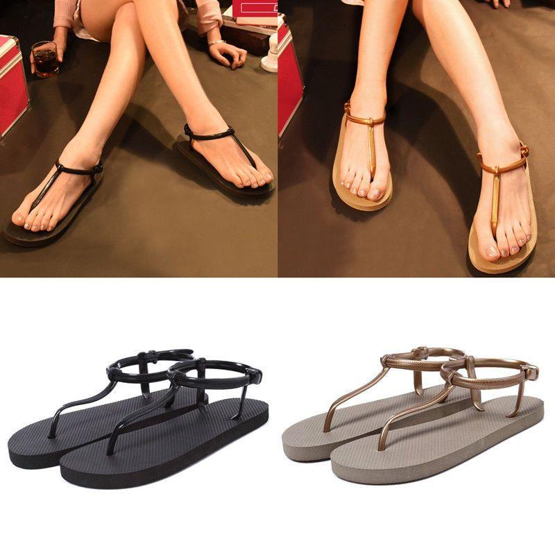 f6549c984a9e Womens Girls Summer Bohemia Slippers Flip Flops Flat Sandals Beach Thong  Shoes  Unbranded  TStrap  Beach