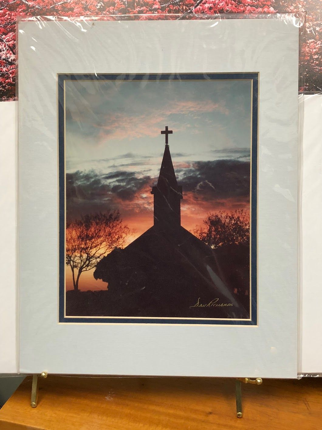 old church by dan richards 8 x 10 matted fits in 11 x 14 frame