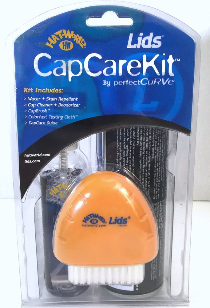 Lids Cap Care Kit Hat Cleaner Deodorizer Brush Water Stain Repellent Hat World How To Clean Hats Deodorant Stain