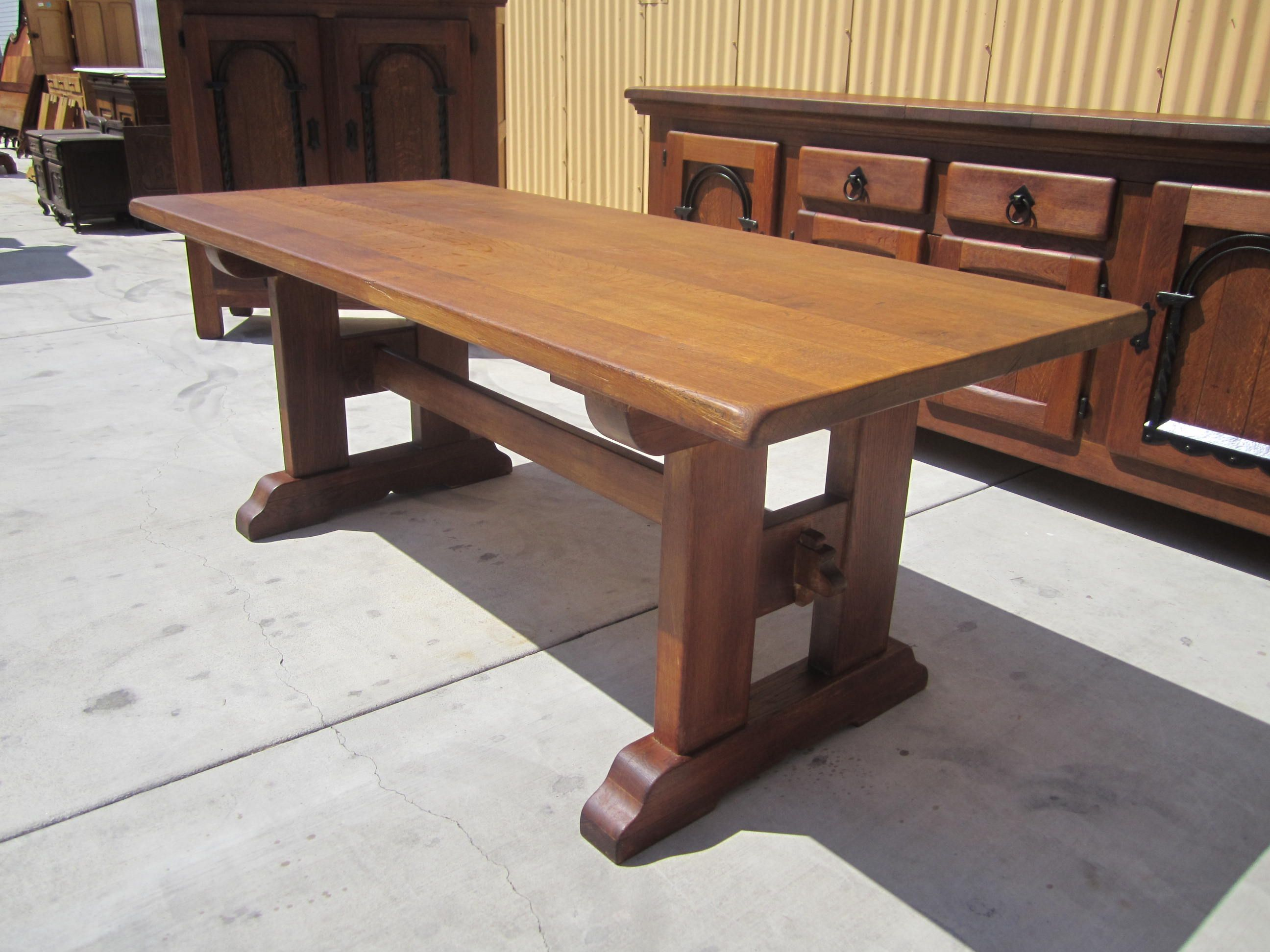 French Antique Rustic Trestle Table Dining Table Antique Furniture