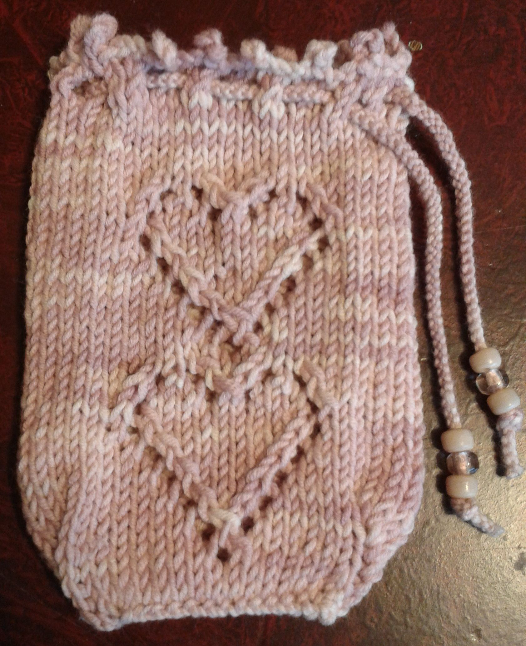 Two of Hearts Tarot Bag knitting pattern by Joy Vernon. Hand knit in ...