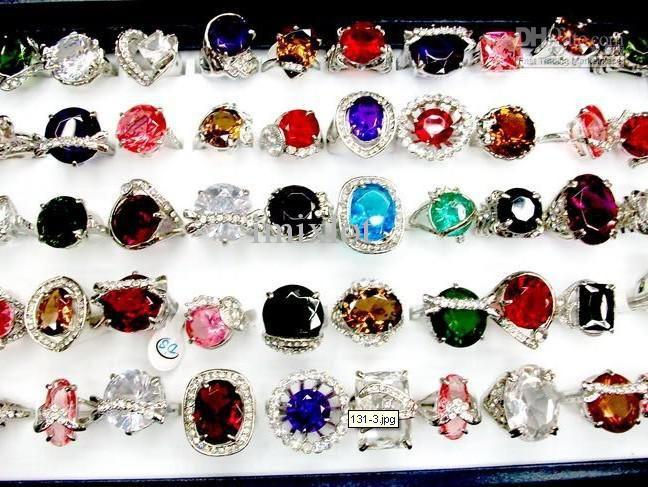 Free P&P Jewelry New Mix OVERSIZE Rhinestone&CZ Charm Lady's Rings ...