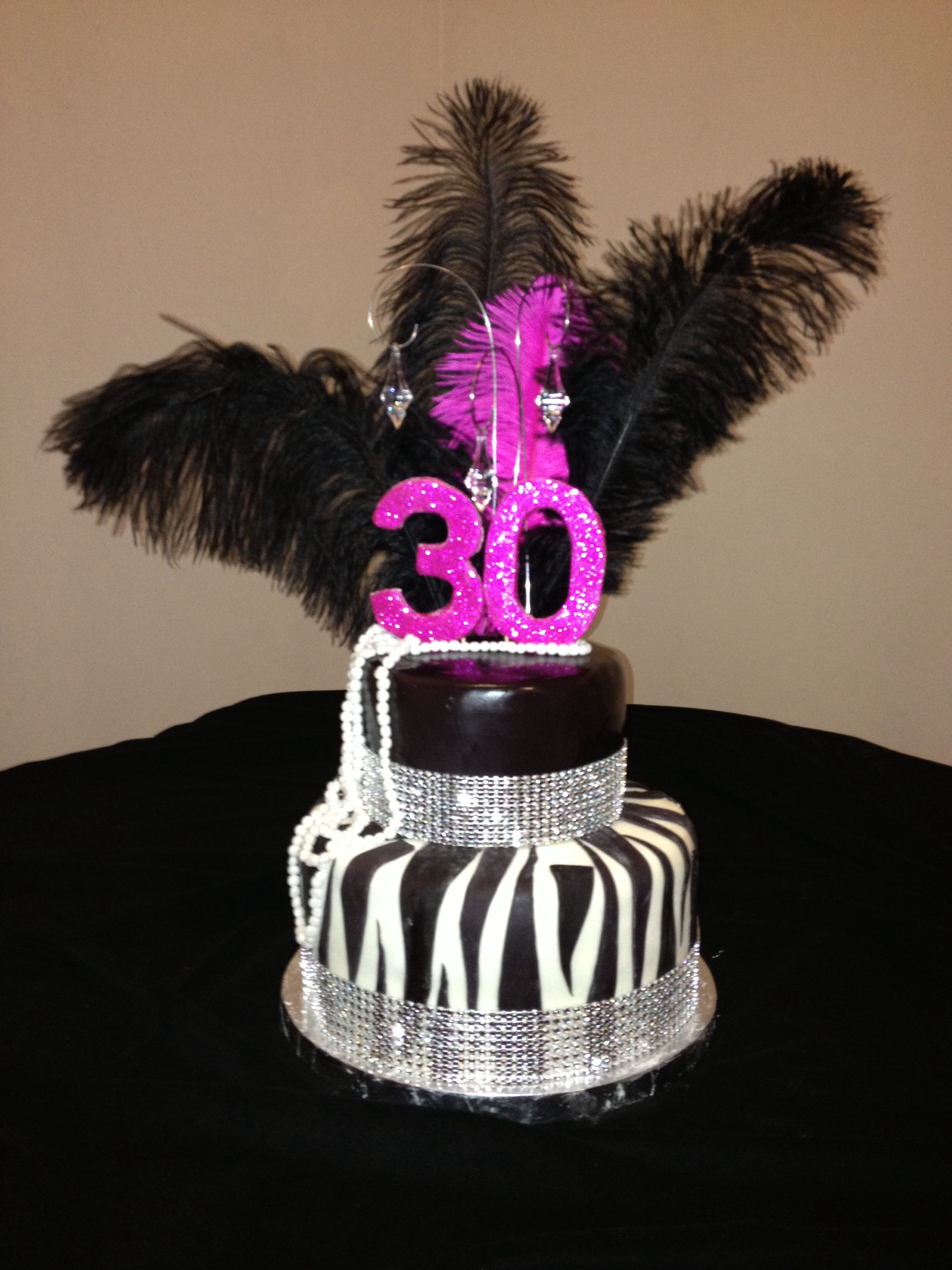 30th Birthday Zebra And Pearl Cake Torte 30 Geburtstag 30