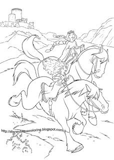 DISNEY COLORING PAGES BRAVE COLOURING