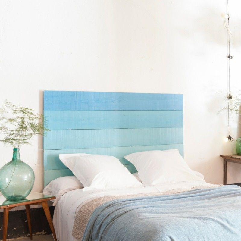 Cabecero de cama en azul ideas espacios pinterest - Ideas cabecero cama ...