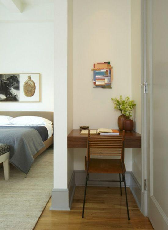 Kleines Heimbüro Einrichten U2013 Wie Können Sie Eine Kompakte Arbeitsecke In  Ihrem Wohnbereich Integrieren   Kleines Heimbüro Einrichten Nische  Schreibtisch ...