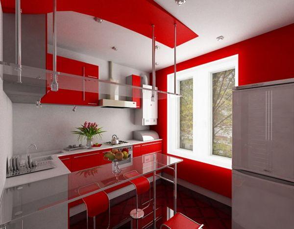 luxus küchen designs modern kompakt einrichtung rote motive hi - küchen luxus design