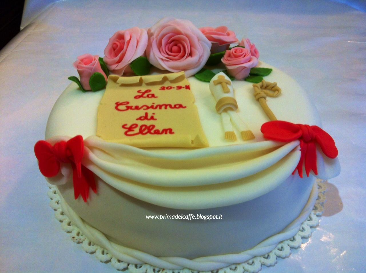 Prima del caff soddisfazioni in cucina torta in pdz per la cresima tutorial per le decora - Decorazioni per cresima ...