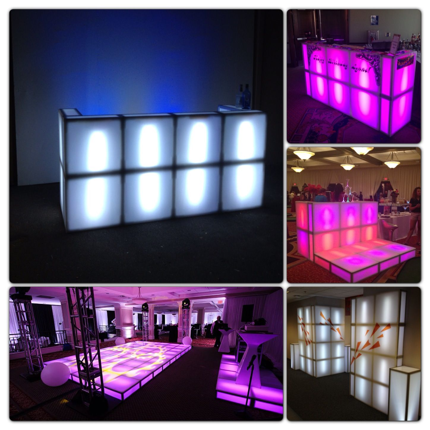 Creative ways we use our lighted dance floor sections as ...