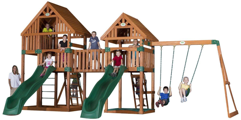 Amazon Com Backyard Discovery Vista All Cedar Wood Playset