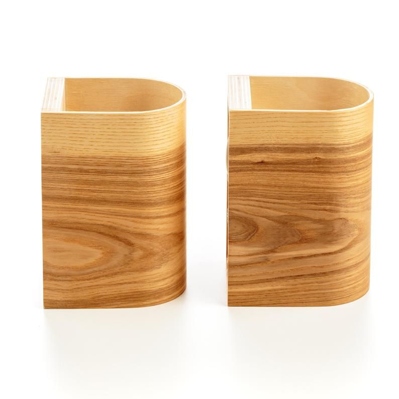2 Leuchten-Set 2 Wandlampen Set gebogenes Sperrholz Holz   Etsy