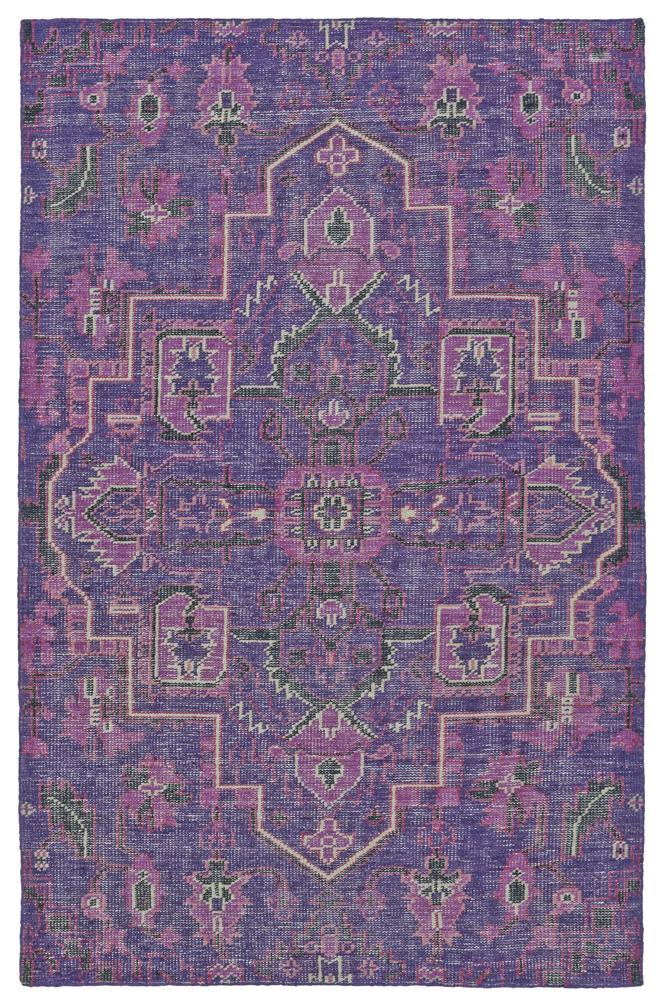 Aanya Hand Knotted Purple Area Rug Products Pinterest Products