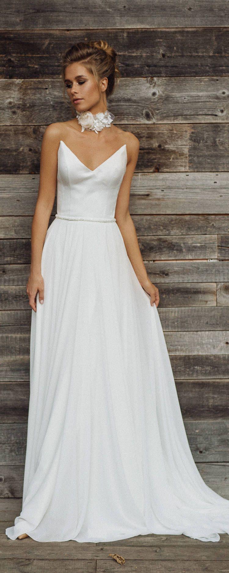 Wedding dress \'CATHERINE\' // lace wedding dress, long sleeve wedding ...