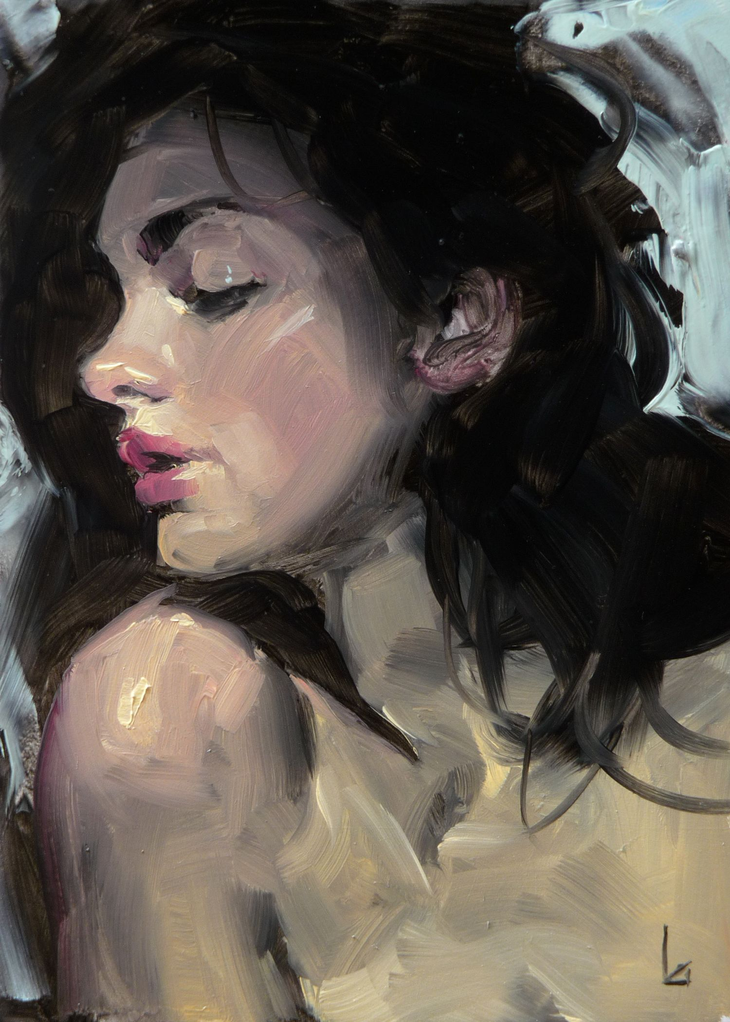 """Daily Paintworks - """"Bardo"""" - Original Fine Art for Sale - © John Larriva"""