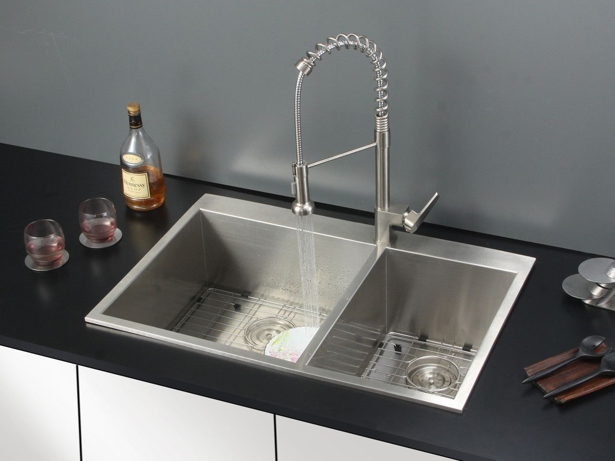 33 X 22 Drop In Kitchen Sink With Faucet Drop In Kitchen Sink