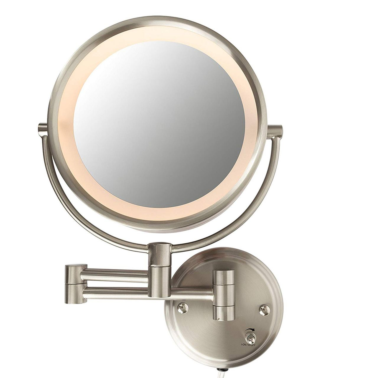 Conair Lighted 7x Brushed Nickel Wall Mount Fluorescent Hotel Makeup Mirror Taylor S Online Marketplace In 2020 Mirror Wall Mounted Mirror Makeup Mirror