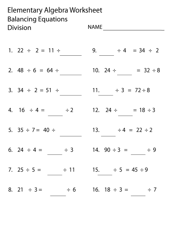 Elementary Worksheets Free To Print Elementary Worksheets Elementary Algebra Basic Math Worksheets