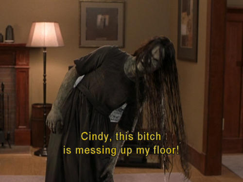 Scary movie 3. haha hilarious.
