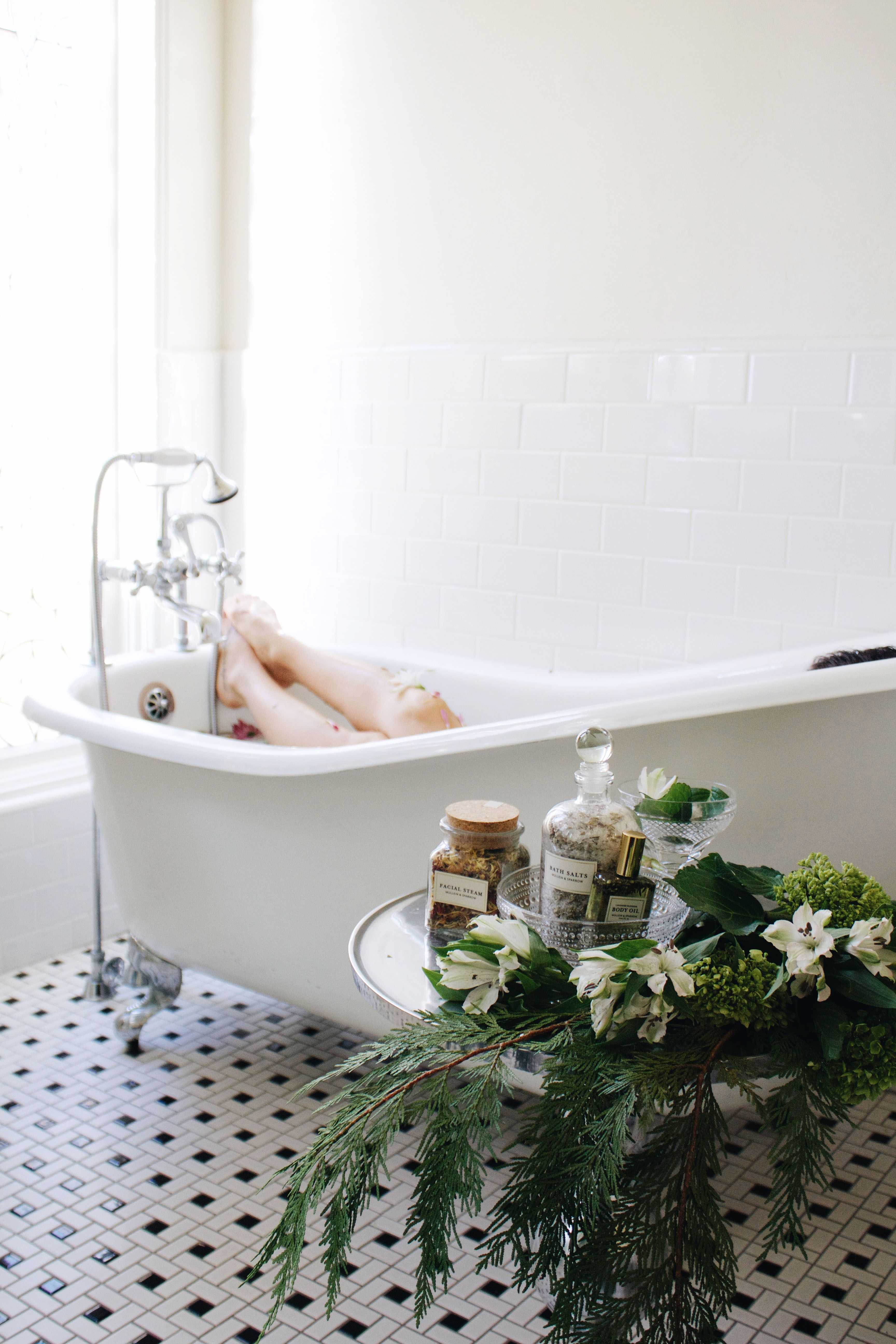 Time to relax in a beautiful clawfoot tub | Beverly Hills | Rita ...