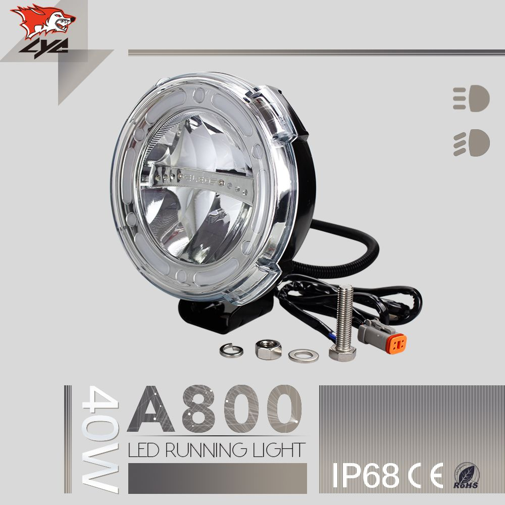 Guangzhou Auto Parts Lyc Automotive Led Light 12 Volt For Hanma Trucks Suv High Beam Low Beam 2016 New Product Die Cast Aluminum Automotive Led Lights High Beam Tractor Lights