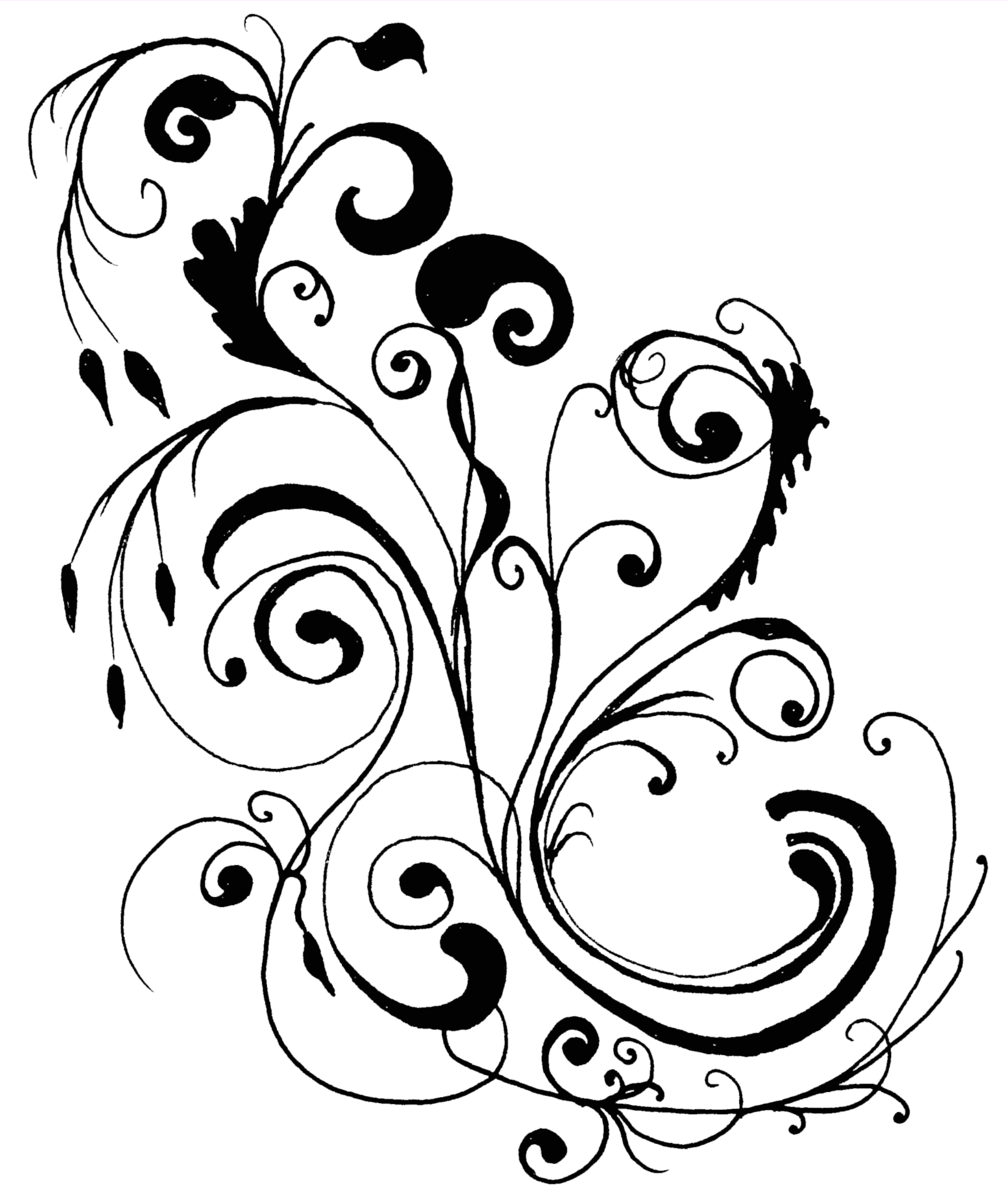 Wedding Flower Line Drawing : Clip art wedding borders free monkeydot