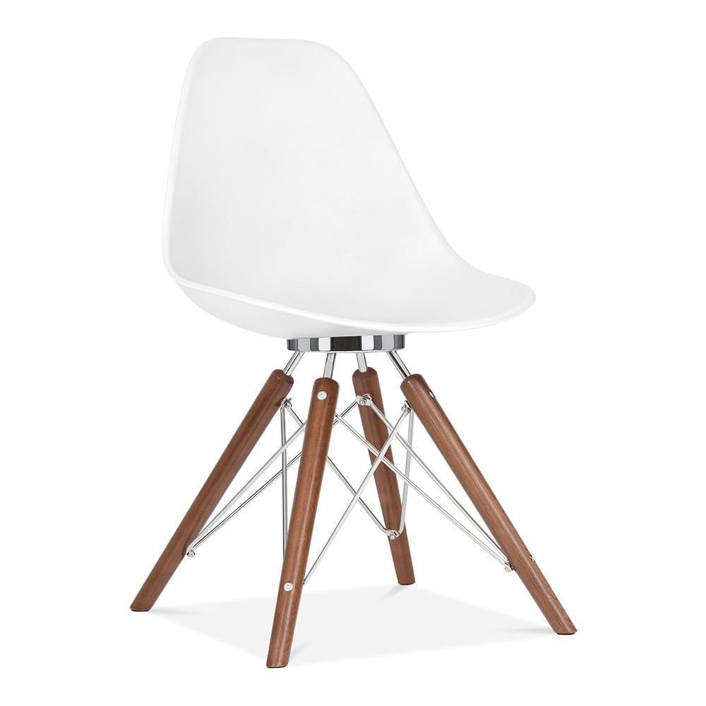Cult Design Moda Eiffel Style Plastic Dining Chair, White CD3