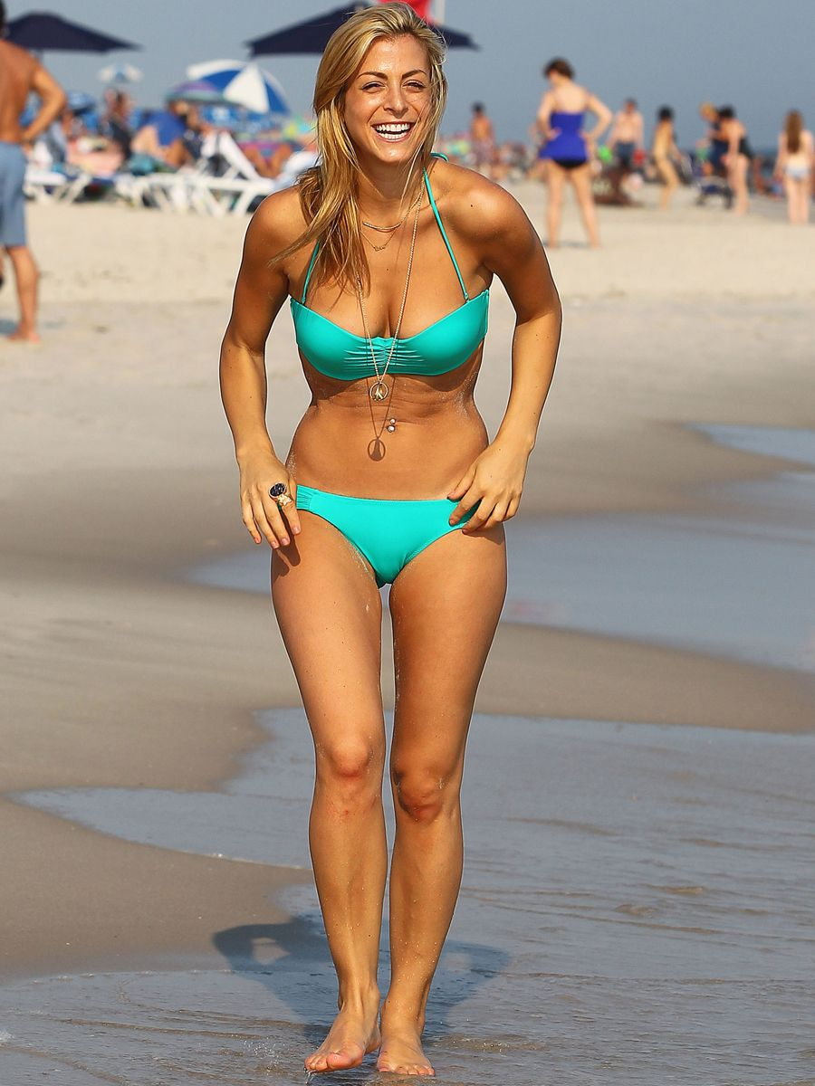 Jay-Z's New Squeeze Casey Cohen in a Blue Bikini